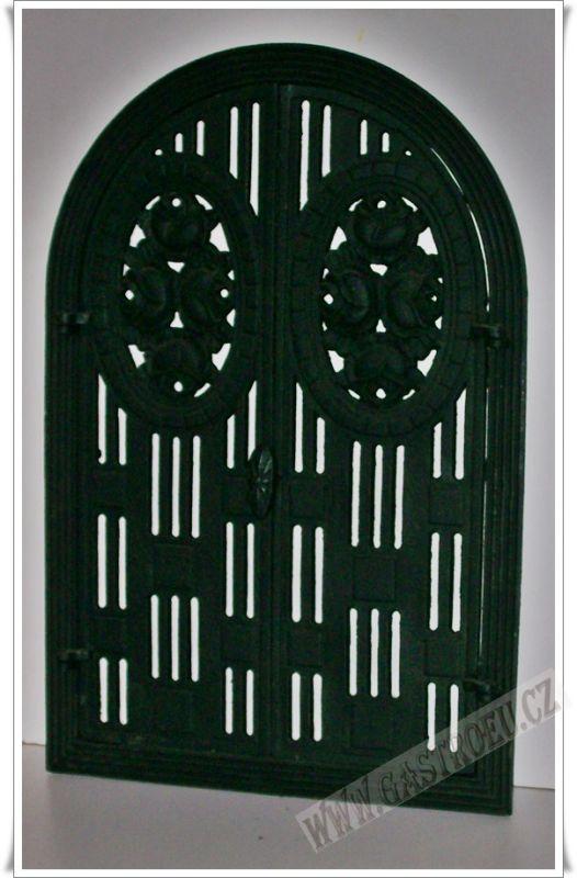 Krbové litinové ozdobné dveře AGA
