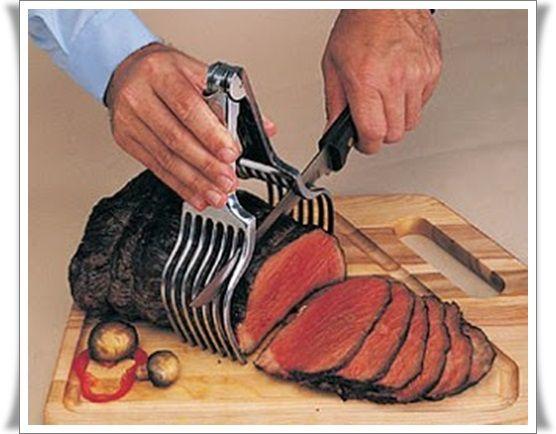 Držák v nerezovém provedení na porcování masa,rolád a jiné