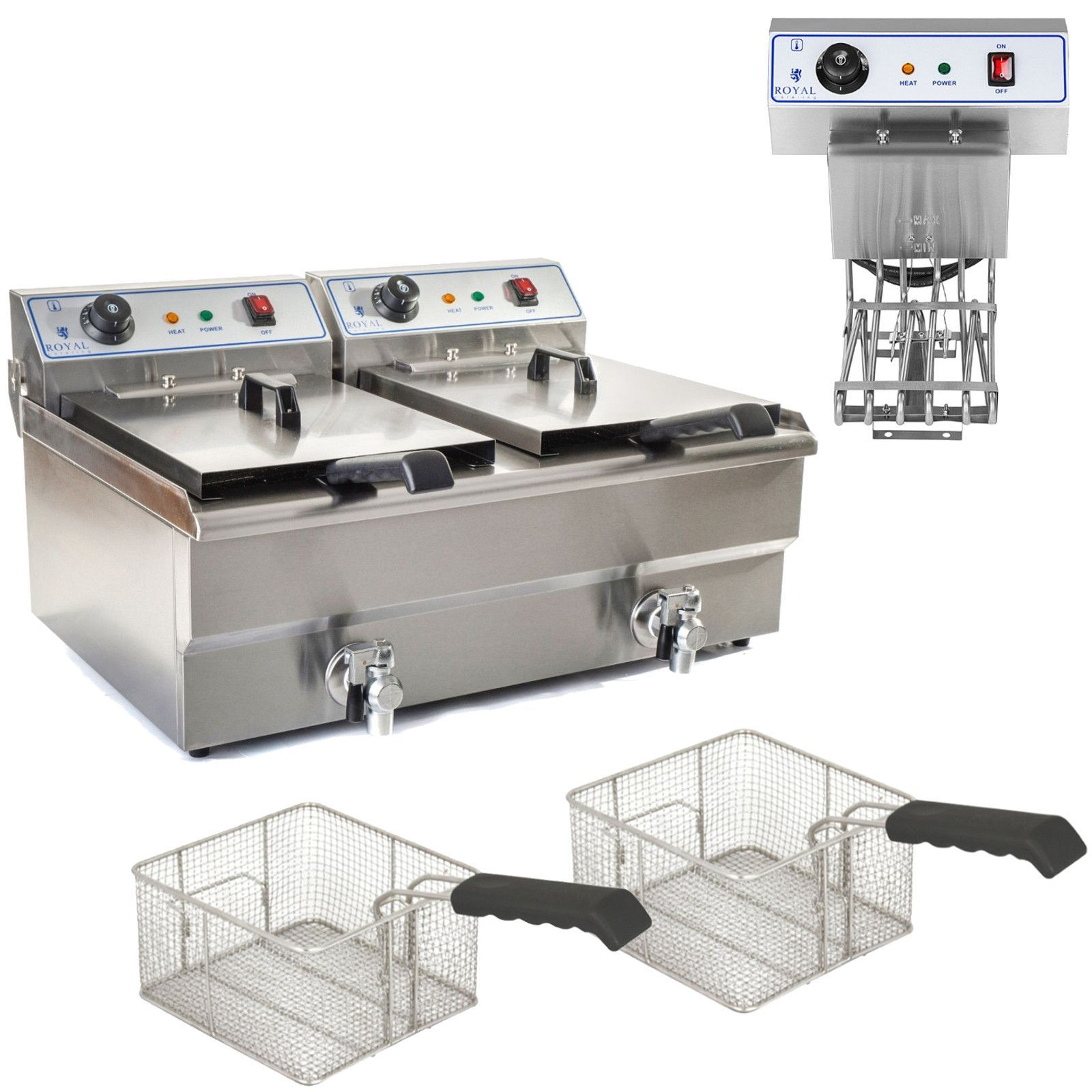 Royal Catering fritéza RCSF-16DTH