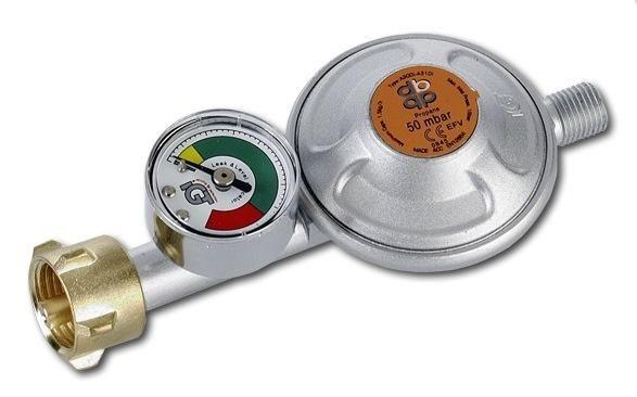 BRADAS Regulátor tlaku plynu 50 mbar s manometrem